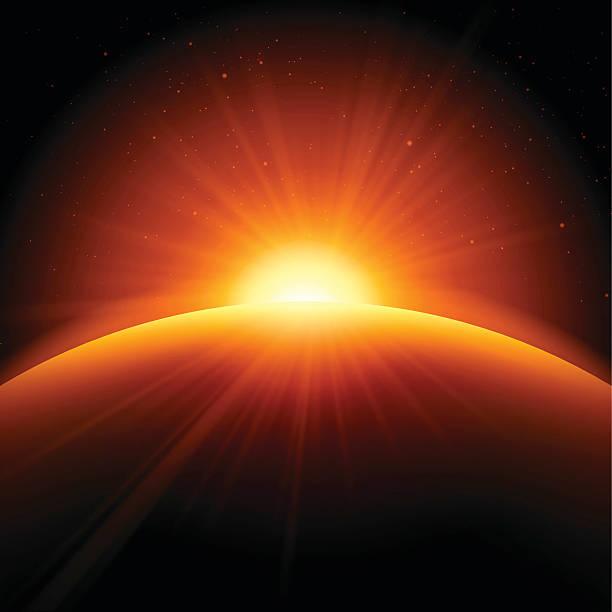 orange sunrise sunset abstract background - sunrise stock illustrations, clip art, cartoons, & icons