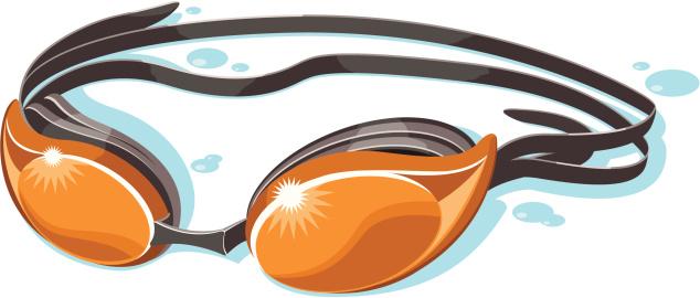 orange swim goggles