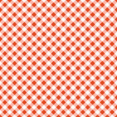 Orange and white tablecloth seamless diagonal pattern.