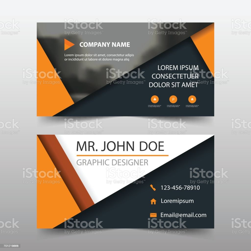 Orange Triangle Corporate Business Card Name Card Template ...
