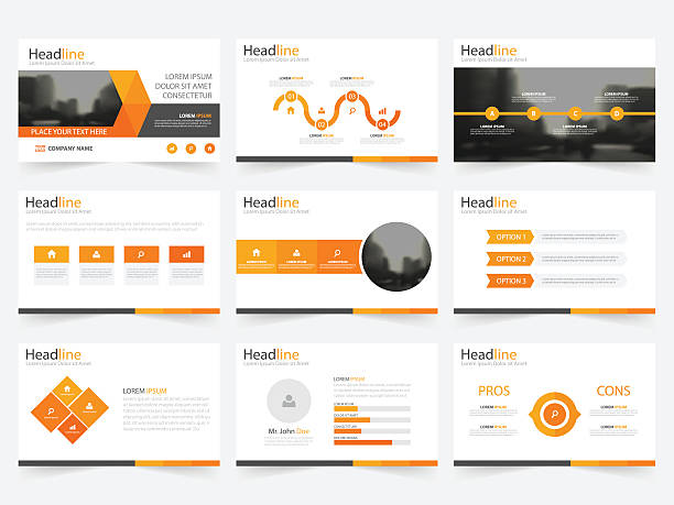 Royalty free template presentation clip art vector images orange triangle presentation templates infographic elements template flat design set vector art illustration toneelgroepblik Gallery