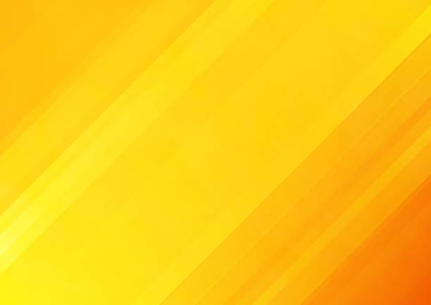 줄무늬가있는 주황색 벡터 배경, 표지 디자인, 포스터, 광고에 사용할 수 있습니다. - 노랑 stock illustrations