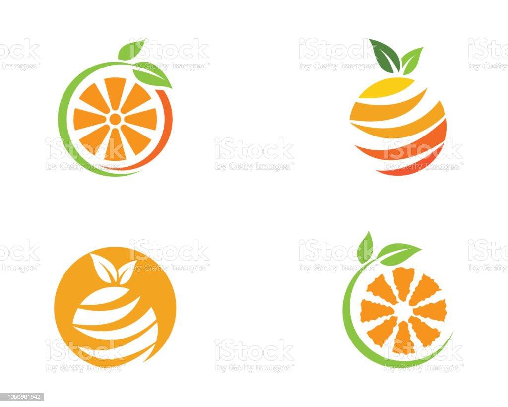 Orange logo design Vector icon illustration design