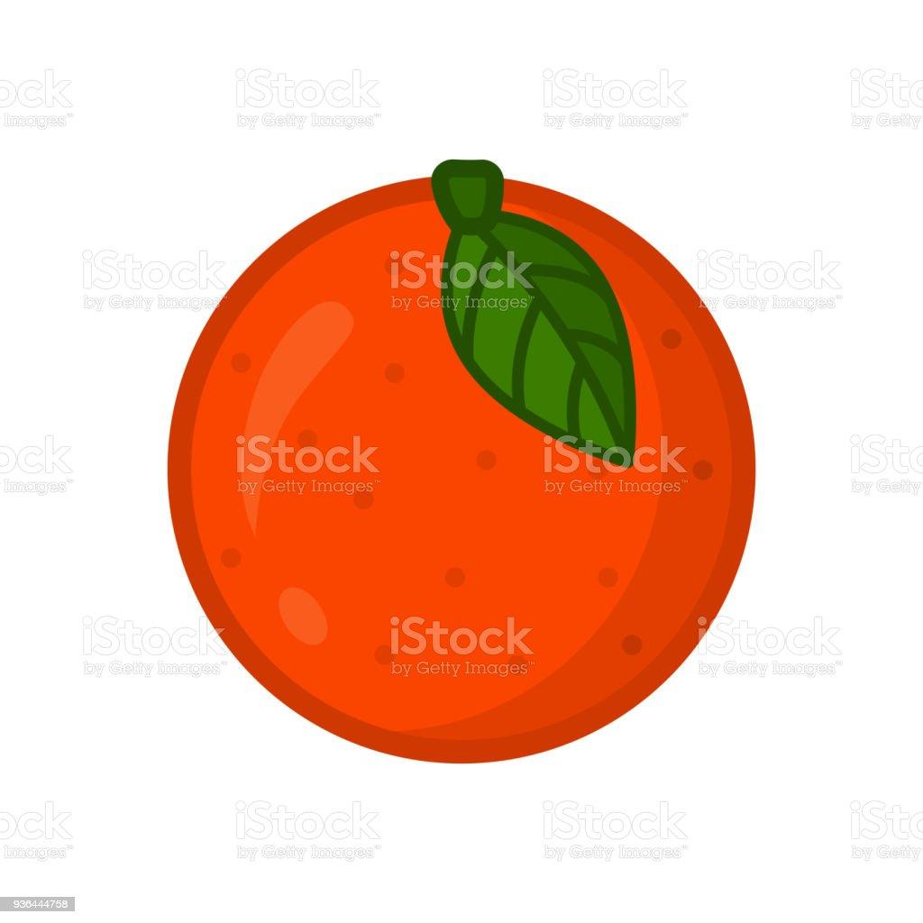 Ilustración de Naranja Icono De Vector De Fruta Naranja Cítricos y ...