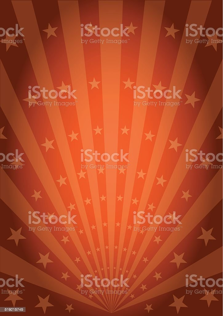 Orange vintage sunbeams vector art illustration