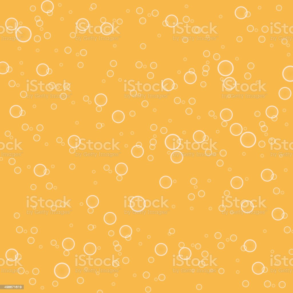 Orange water droplets background. vector art illustration