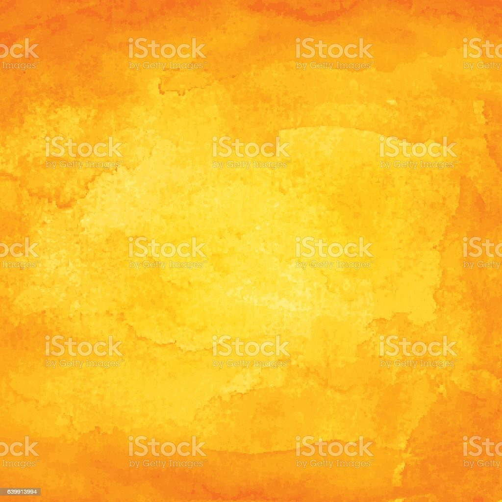 Orange watercolor macro texture background - Illustration vectorielle