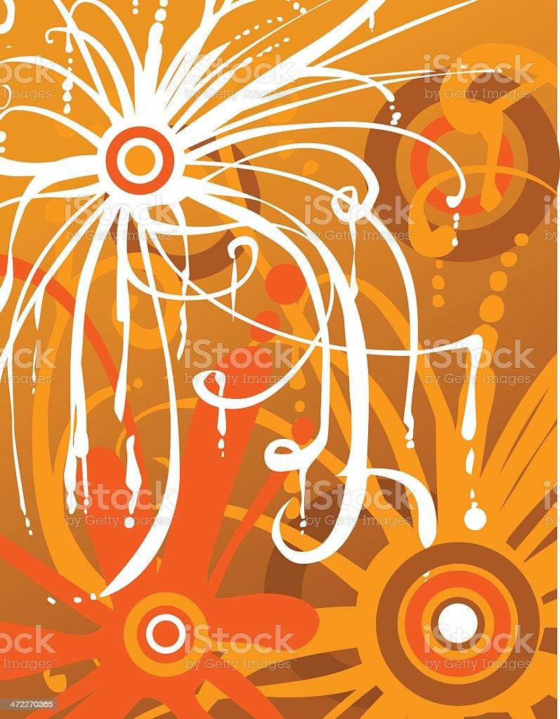 Orange Whirl royalty-free stock vector art