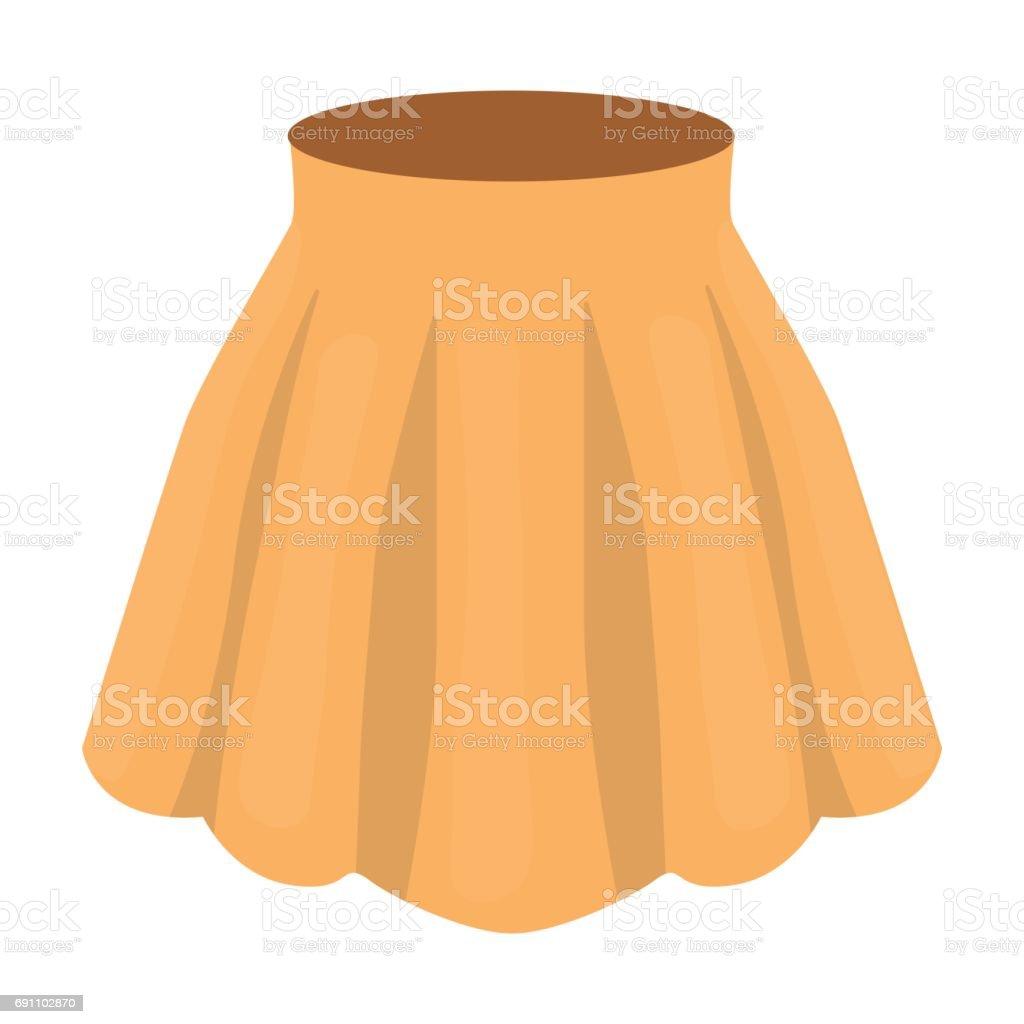 ea8987a84 Ilustración de Falda Con Pliegues En Naranja Mujer Ligera De Verano ...