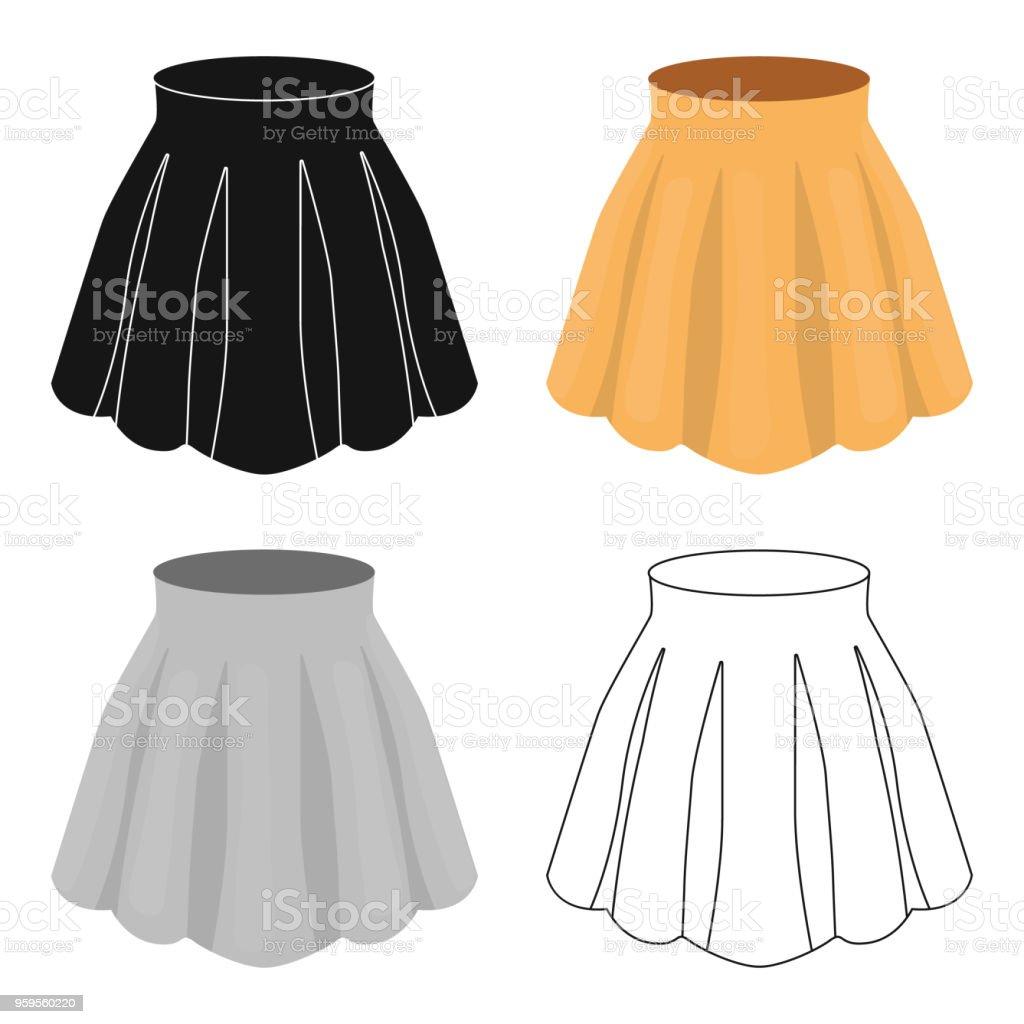 Ilustración de Falda Con Pliegues En Naranja Mujer Ligera De Verano ... fbc30ca9d55ce