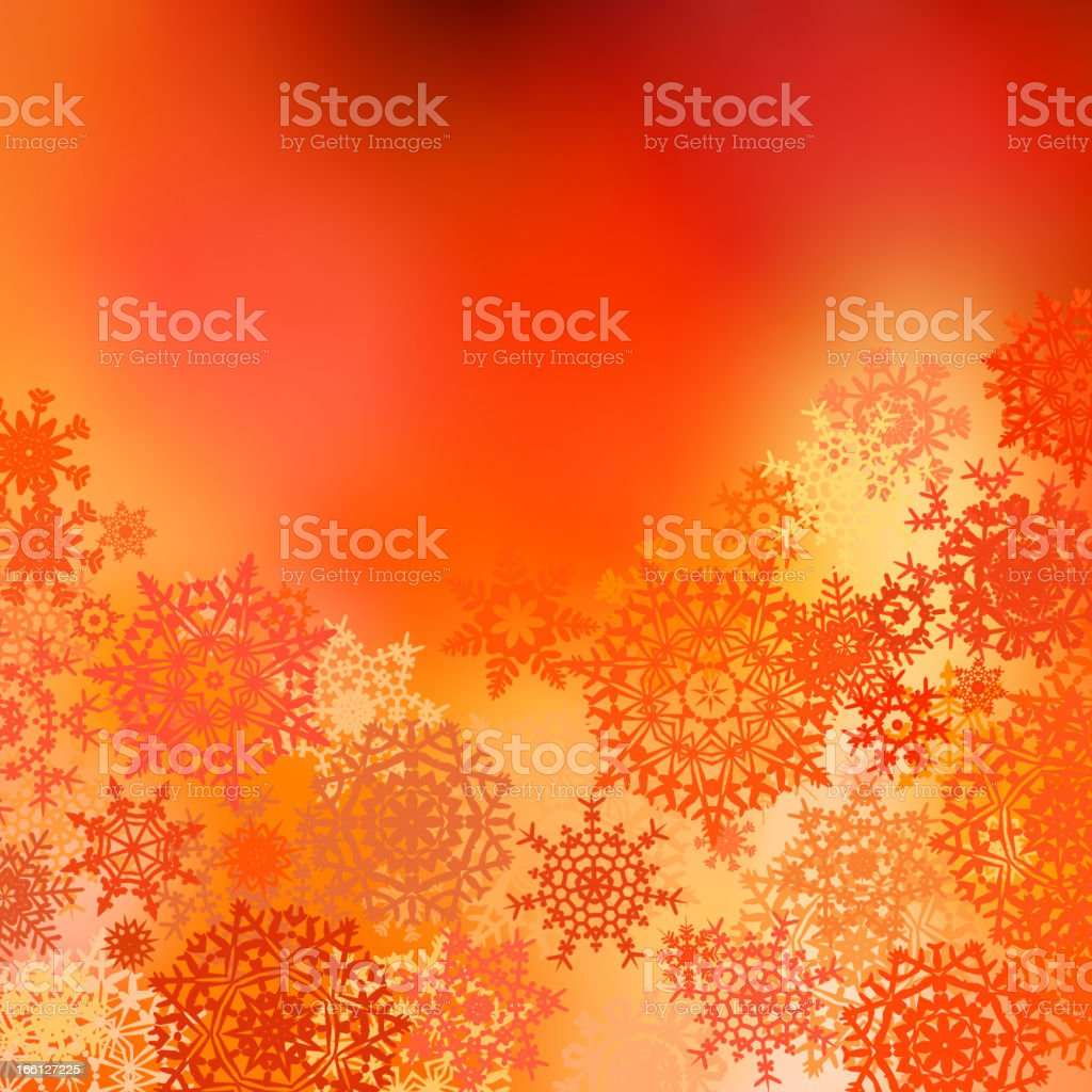 Orange yellow Christmas bokeh background. EPS 8 royalty-free stock vector art