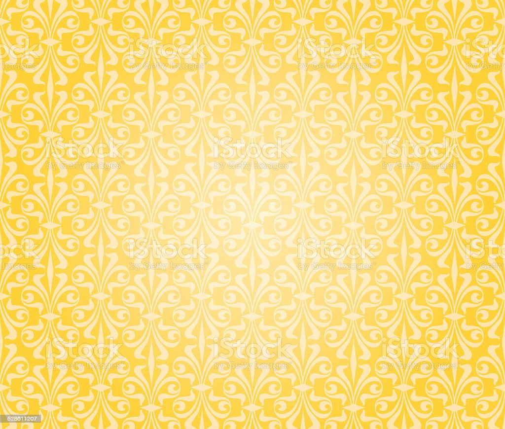 orange & yellow wallpaper background design vector art illustration