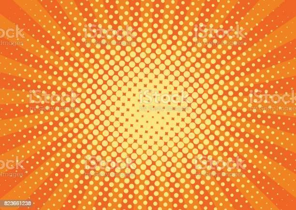 Orange yelow rays and dots pop art background retro vector drawing vector id823661238?b=1&k=6&m=823661238&s=612x612&h=pts03 uxrnlv68mqqjyyee2gdyru6yhgjuih2vedtou=