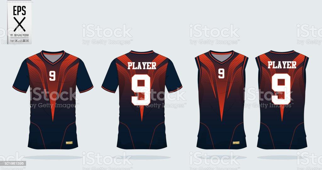 Orange Black T Shirt Sport Design Template For Soccer Jersey Football Kit And