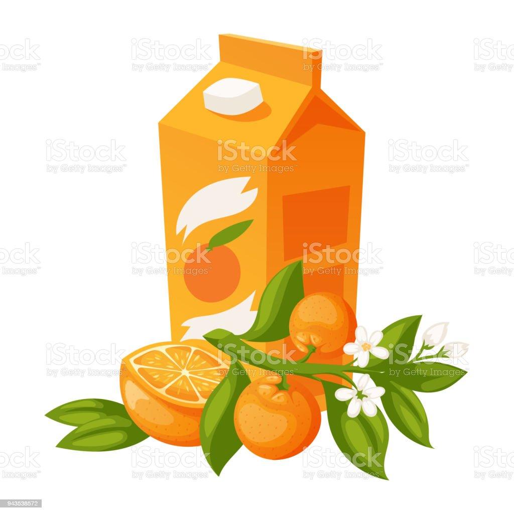 Ilustración de Productos De Naranja Y Naranjas Vector Ilustración ...