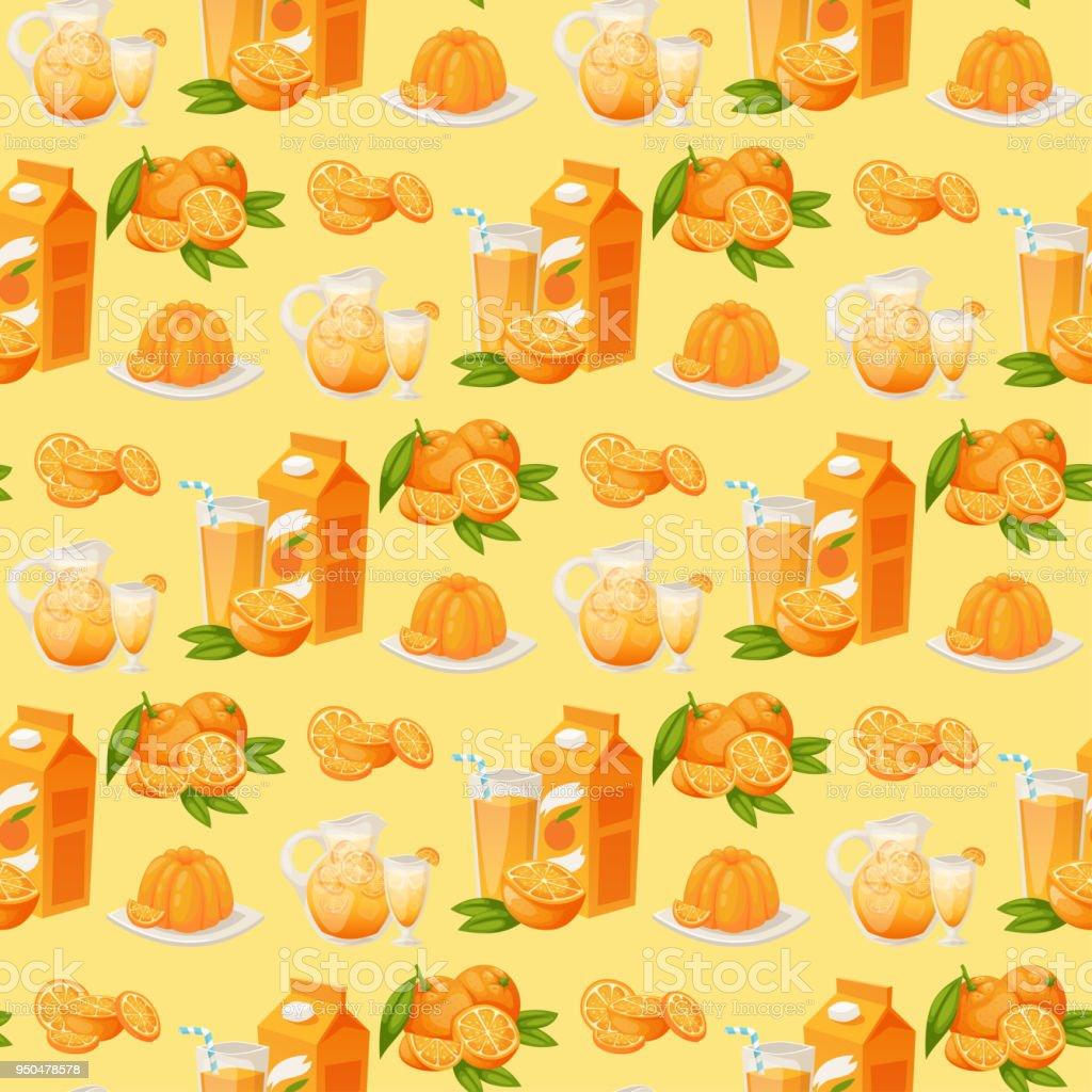 Oranges And Orange Products Vector Illustration Natural Citrus Fruit