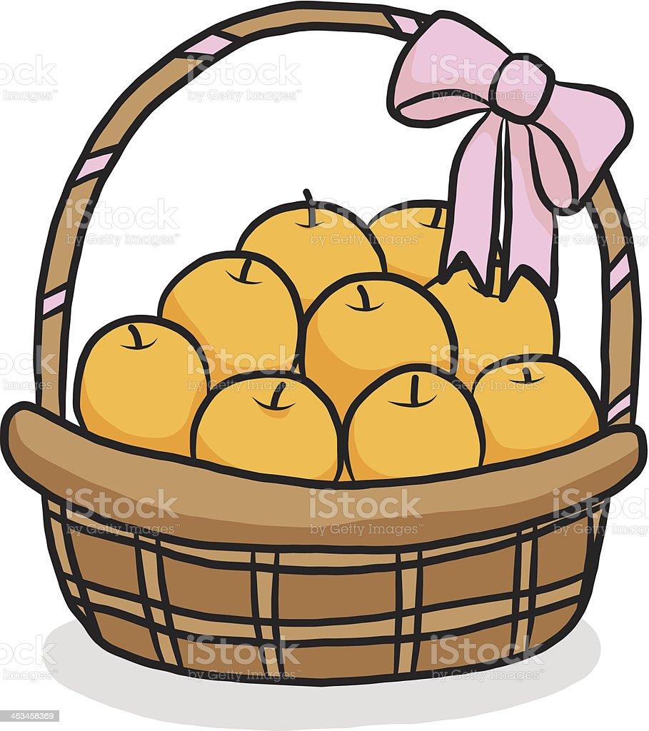 Orange In Geschenkkorb Comic Stock Vektor Art und mehr Bilder von ...