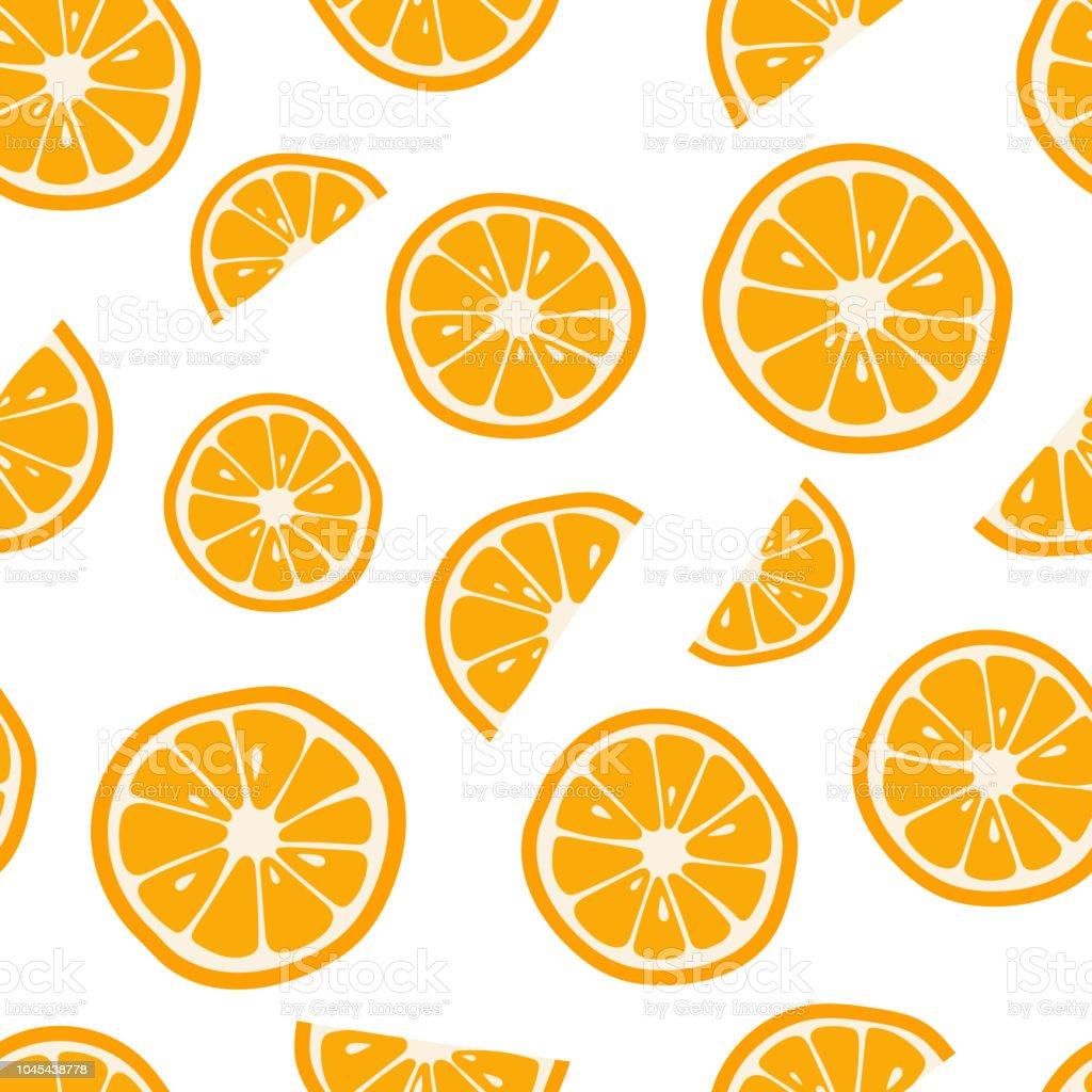 Orangen nahtlose Muster mit. Zitrus Hintergrund. Vektor-illustration - Lizenzfrei Abnehmen Vektorgrafik