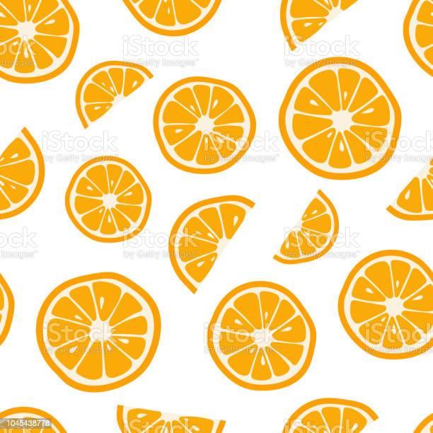 Orangen Nahtlose Muster Mit Zitrus Hintergrund Vektorillustration Stock Vektor Art und mehr Bilder von Abnehmen