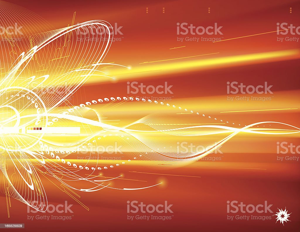 Orange-toned abstract background with motion-blurred element vector art illustration