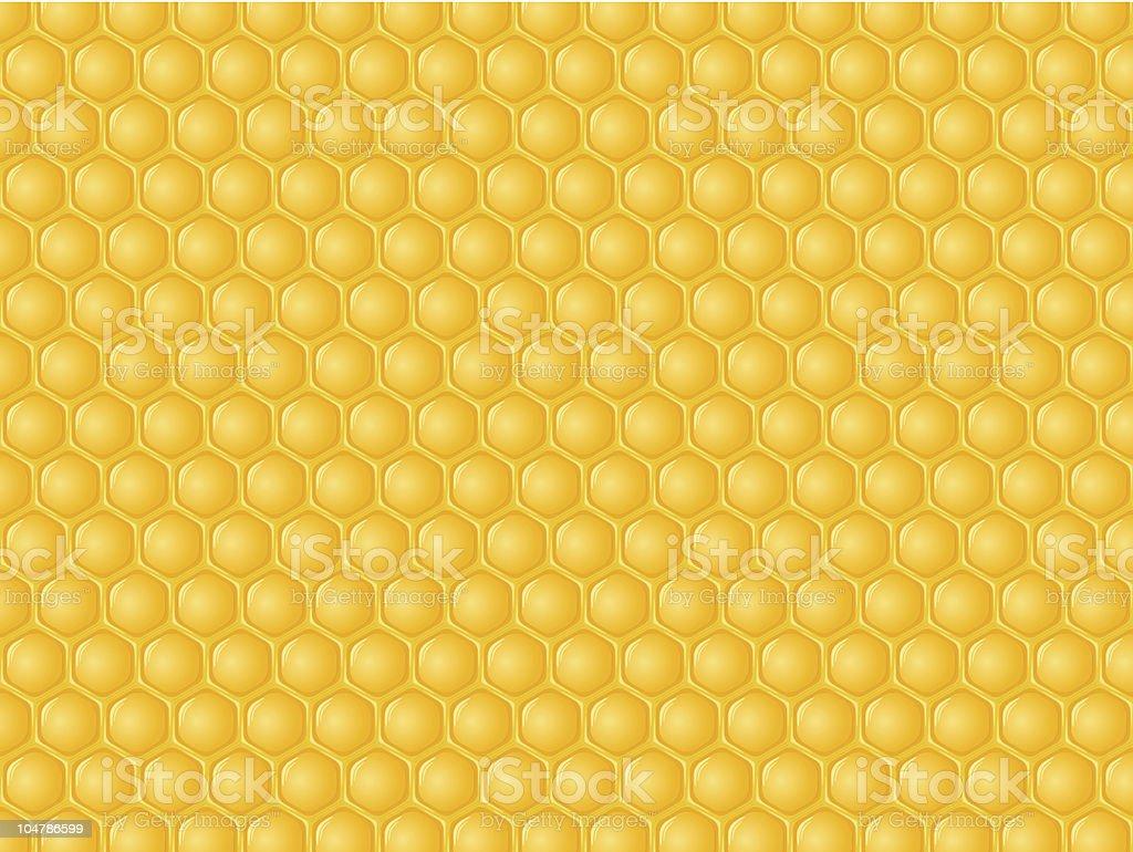 Orangey wallpaper with honeycomb pattern vector art illustration
