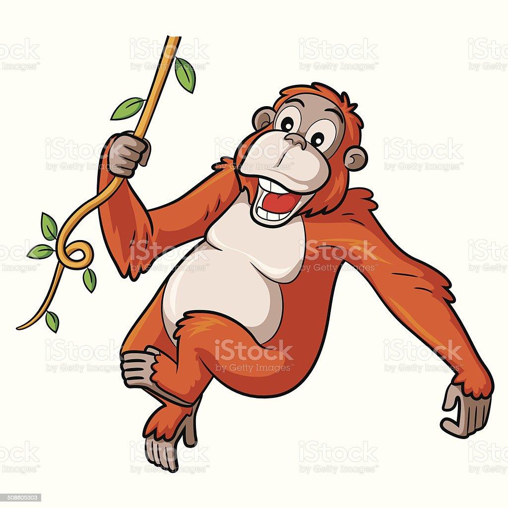 royalty free orangutan clip art vector images illustrations istock rh istockphoto com baby orangutan clipart clipart orangutan hanging