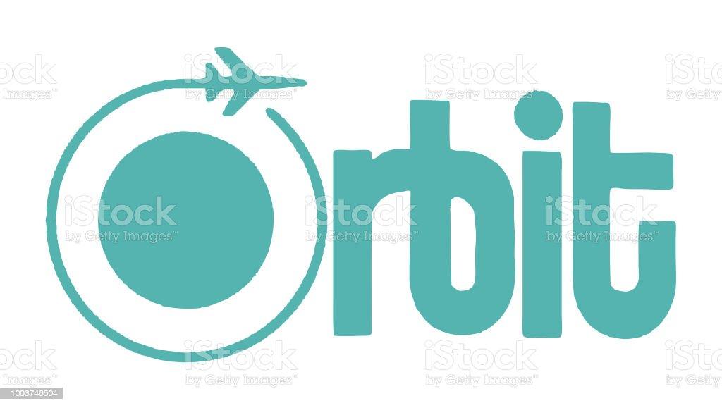 Orbit vector art illustration