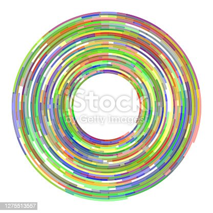 istock Orbital limited lines, arc, in concentric circles around copy space. On white. 1275513557