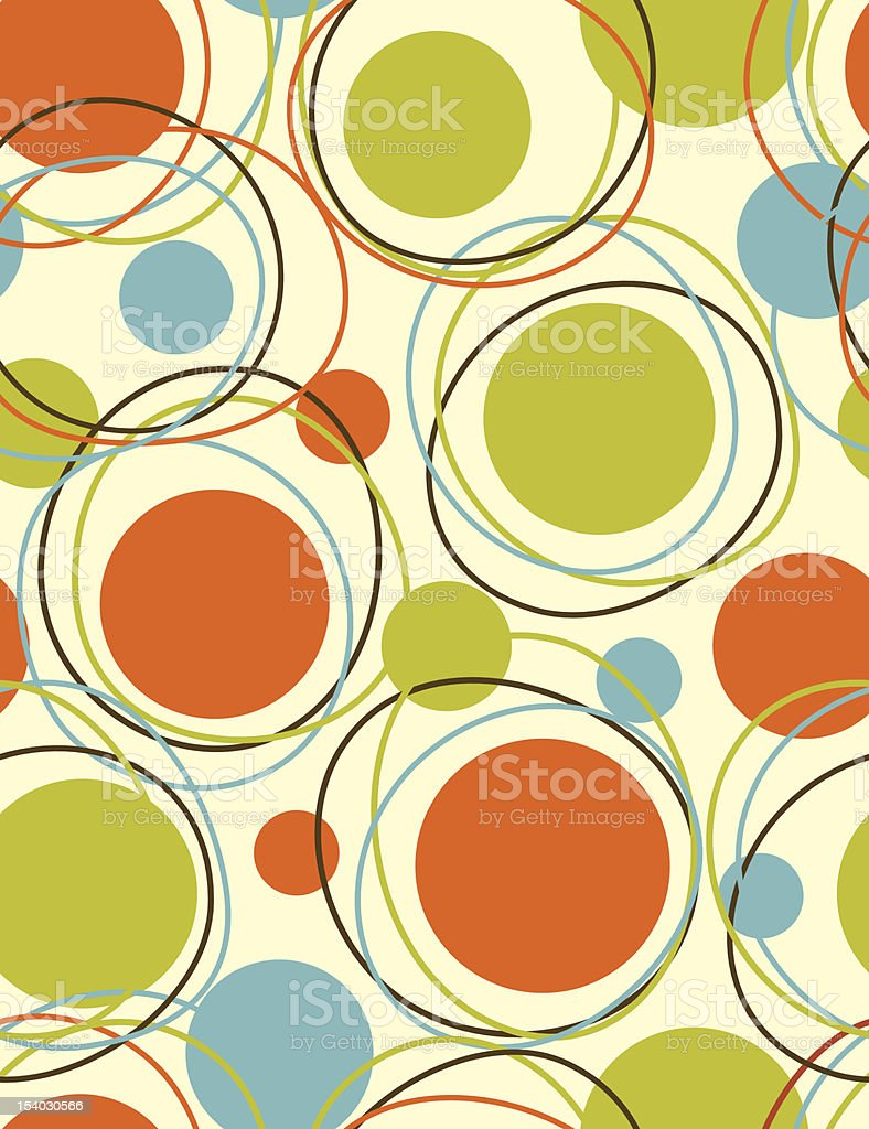 Orbits - seamless  pattern vector art illustration