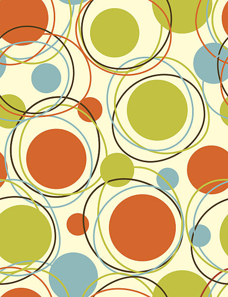 orbits - seamless  pattern - 1960s style stock illustrations, clip art, cartoons, & icons