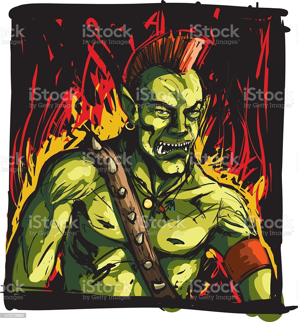 Orc warrior royalty-free orc warrior stock vector art & more images of anger
