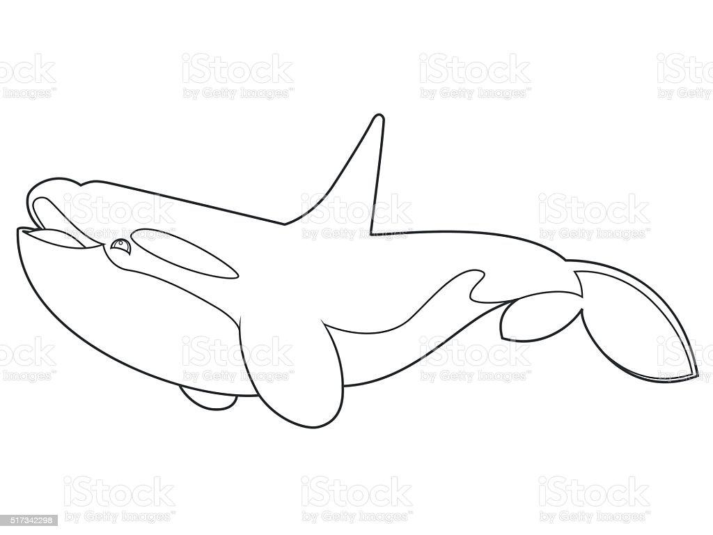 Orca Libro Para Colorear - Arte vectorial de stock y más imágenes de ...