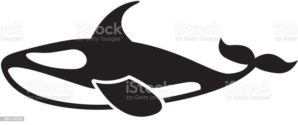 Orca walvis geïsoleerde pictogram royalty free orca walvis geïsoleerde pictogram stockvectorkunst en meer beelden van bord - bericht