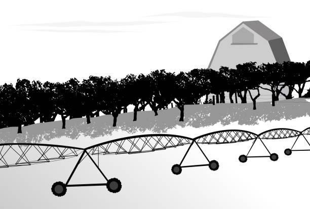 orchard pesticide - clip art of a black and white barn stock illustrations, clip art, cartoons, & icons