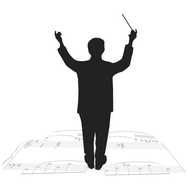 orchesterleiter - bandleader stock-grafiken, -clipart, -cartoons und -symbole