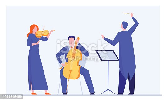 istock Orchestra playing classical symphony 1211616489