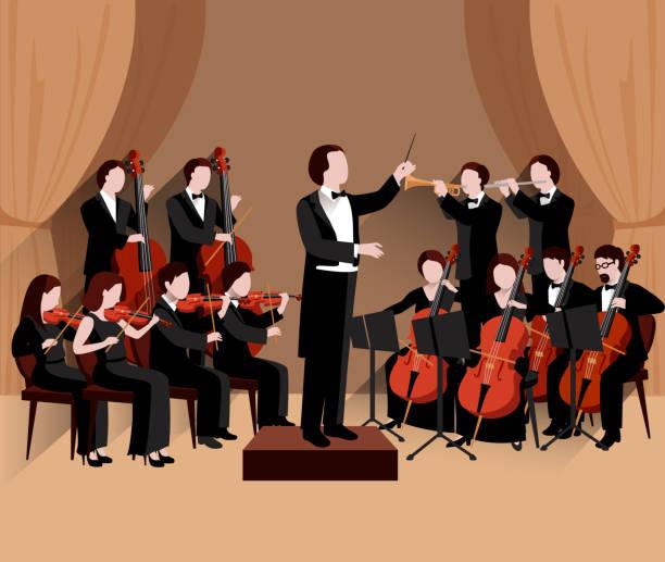 bildbanksillustrationer, clip art samt tecknat material och ikoner med orkester - orkester