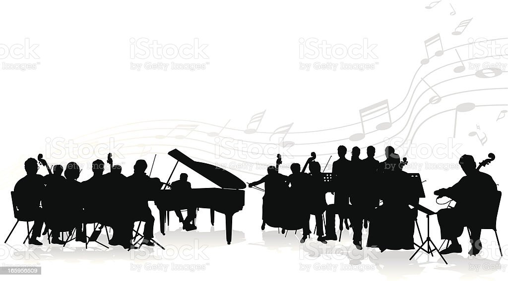 royalty free orchestra clip art vector images illustrations istock rh istockphoto com