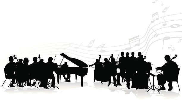 bildbanksillustrationer, clip art samt tecknat material och ikoner med orchestra - orkester