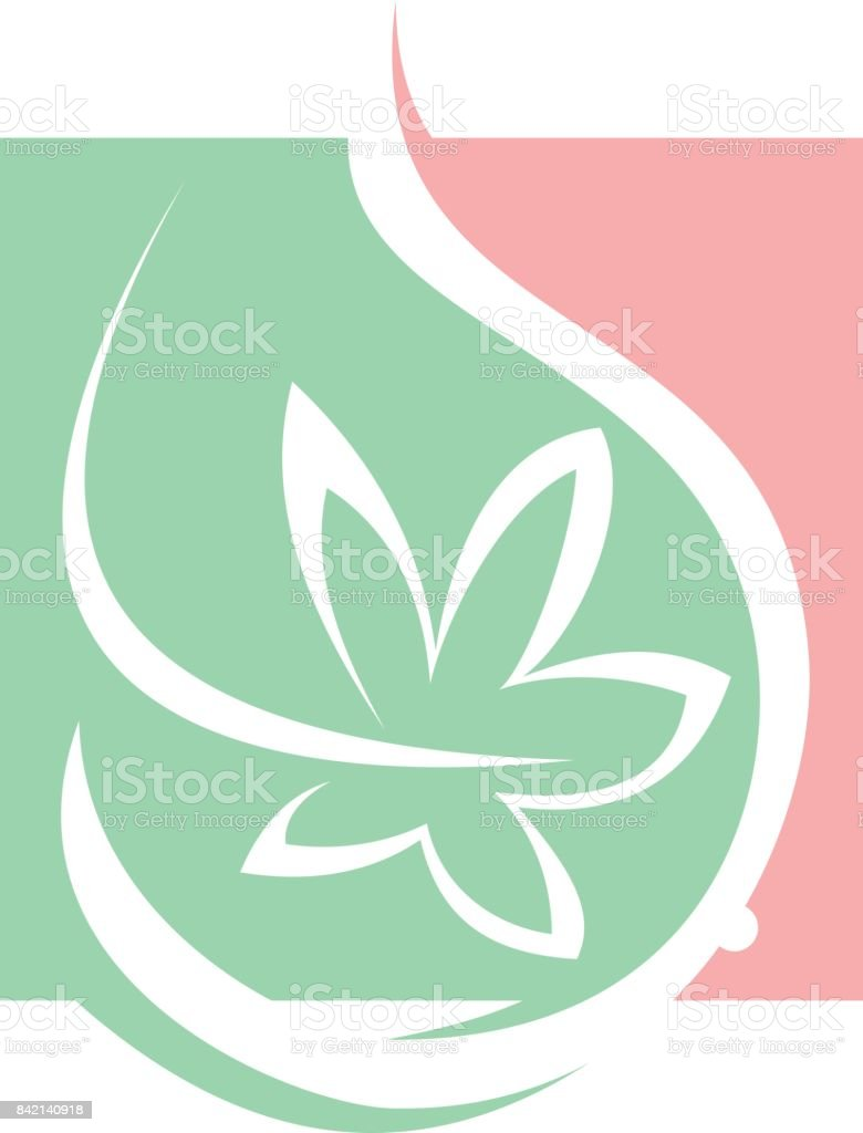 Orchid Pregnant Care vector art illustration