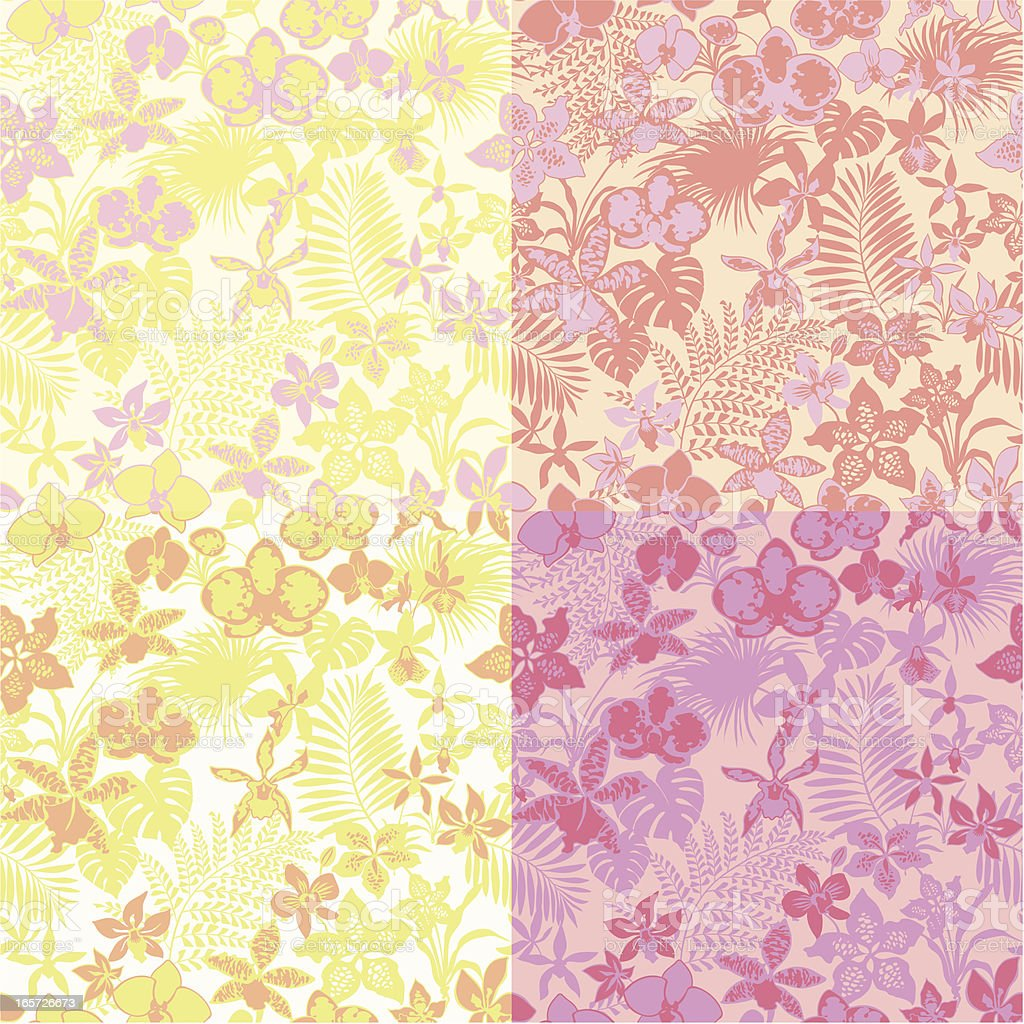 Orchids pattern royalty-free orchids pattern stock vector art & more images of backgrounds