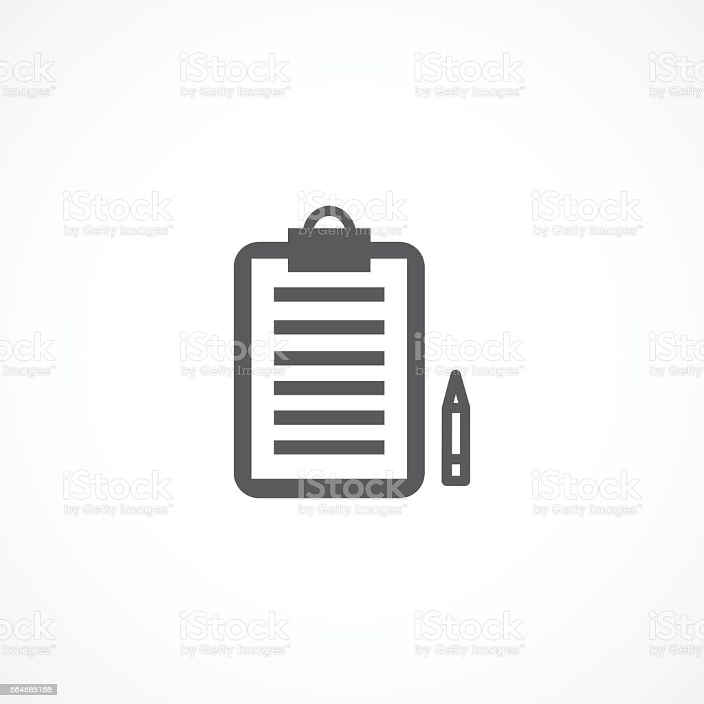 Order icon vector art illustration