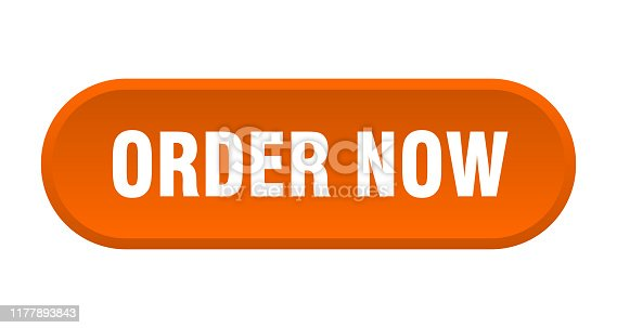 order now button. order now rounded orange sign. order now
