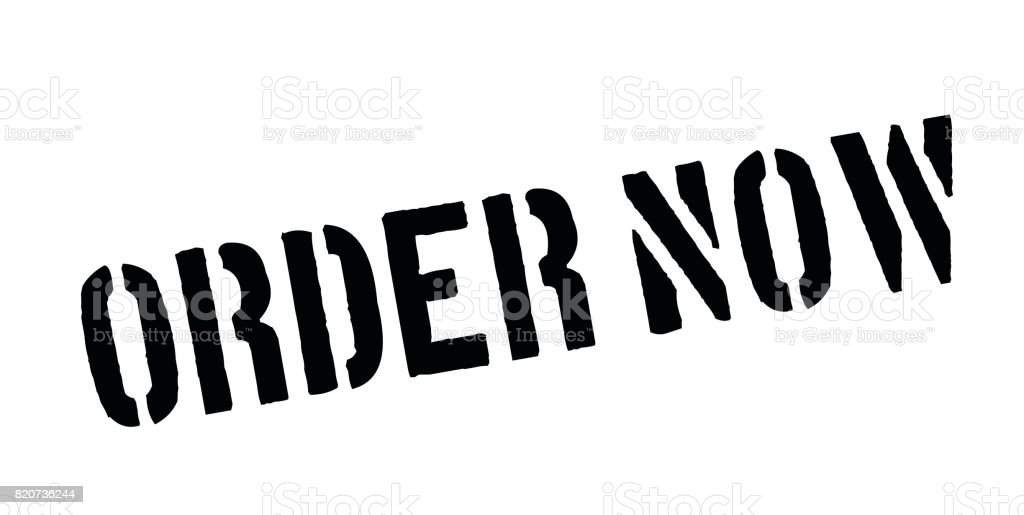 Order Now rubber stamp vector art illustration