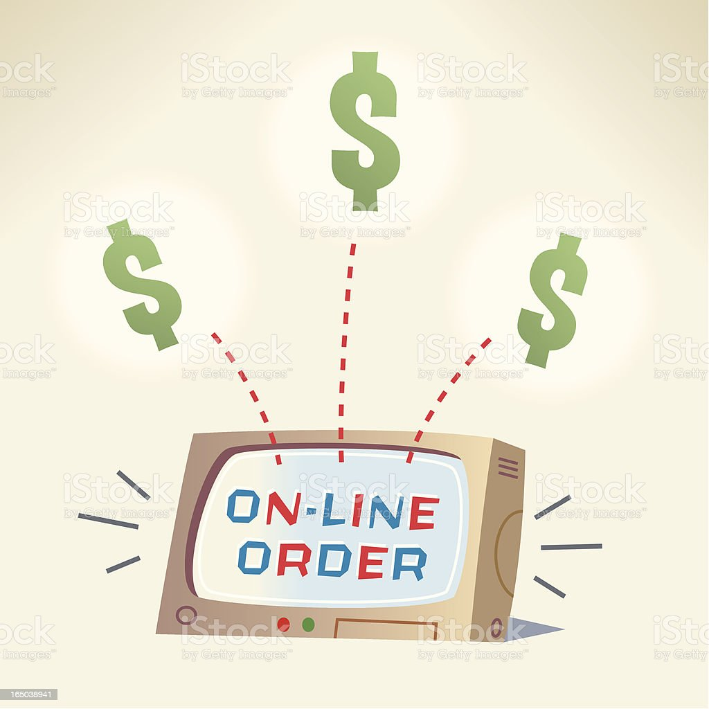 Order on line $$$ royalty-free stock vector art