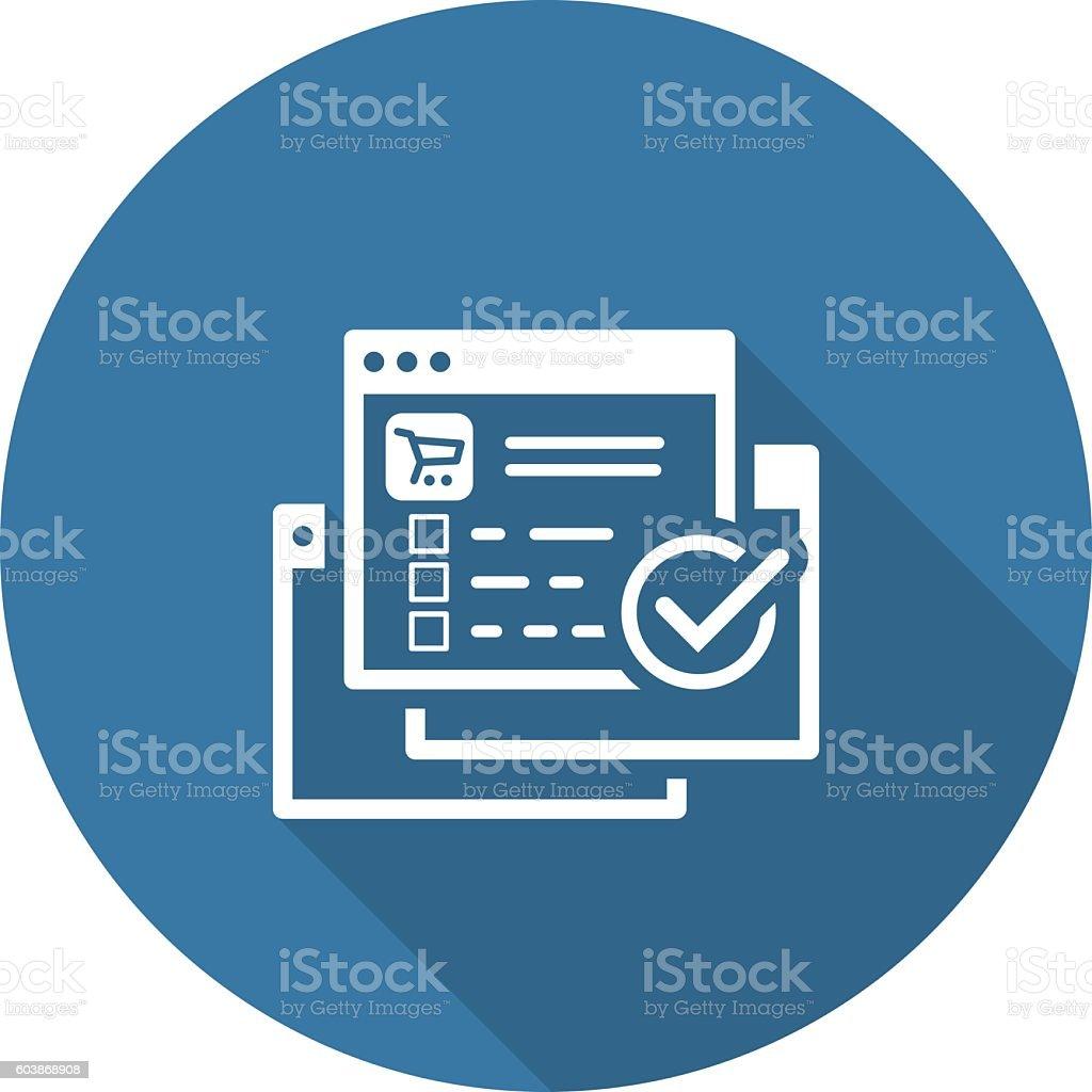order processing icon flat design eコマースのベクターアート素材や
