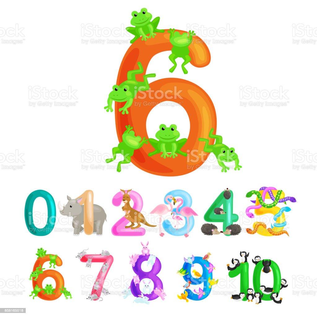 6 カエルを数える量動物 abc アルファベット幼稚園本または小学生