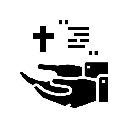 ordo christianity church glyph icon vector illustration