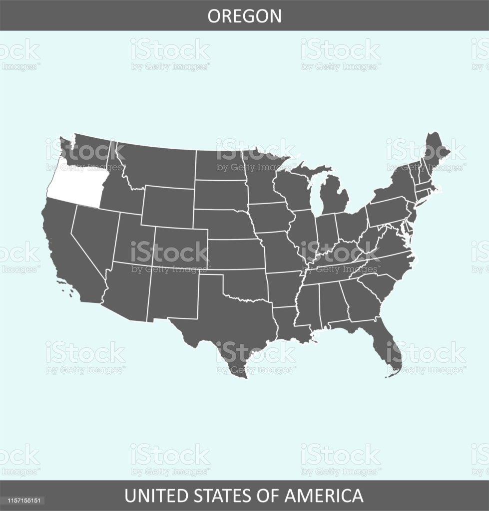 Map Of America Oregon.Oregon Map United States Of America Stock Vector Art More Images