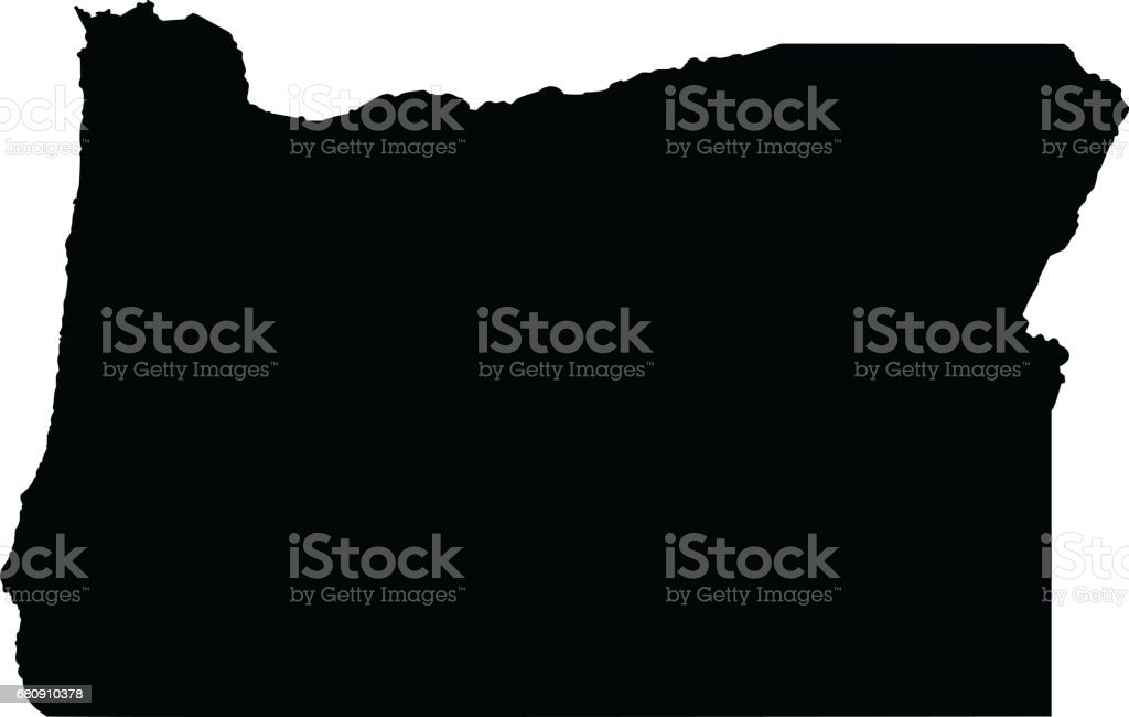 Oregon map royalty-free oregon map stock vector art & more images of black color